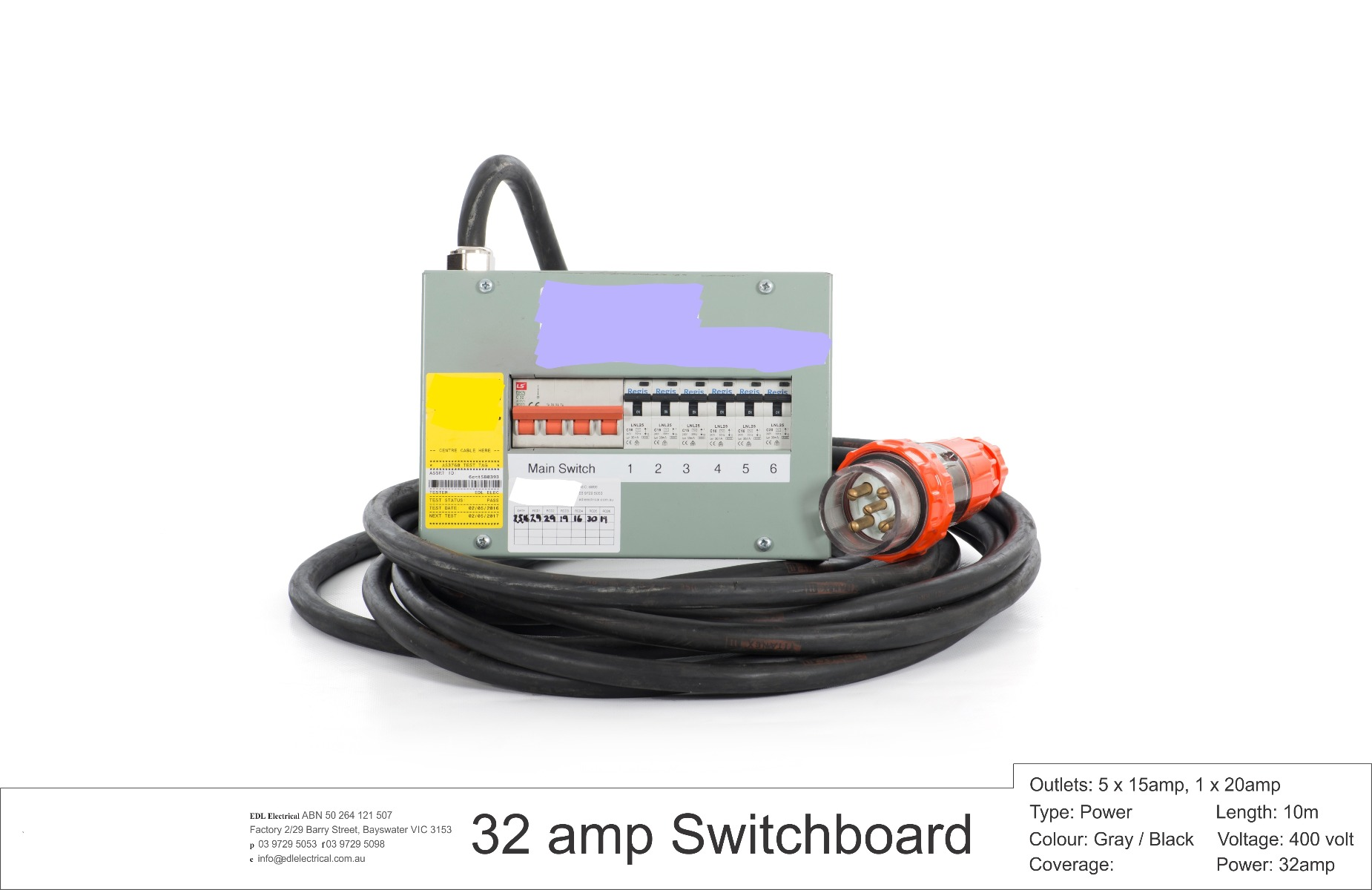 Brilliant 32Amp 3 Phase Feed Distribution Board 6 Circuits Outstanding Wiring 101 Photwellnesstrialsorg