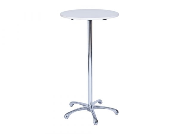 Ainsley Bar Table - White (600mm dia) -0