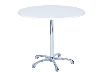 Ainsley Café Table White (900mm dia) -0