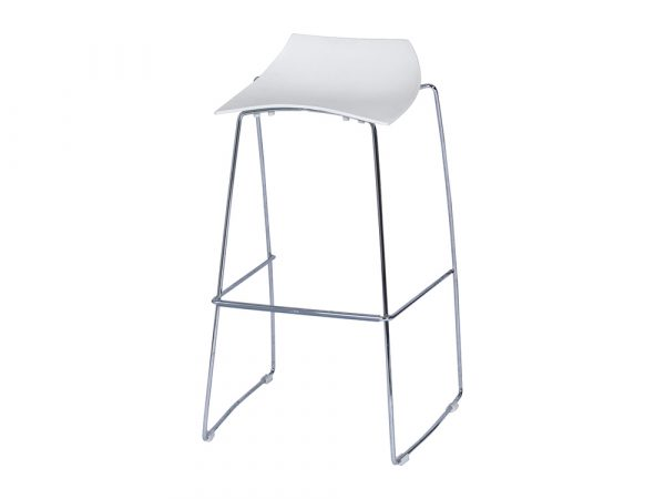 Sled Bar Stool - White-0