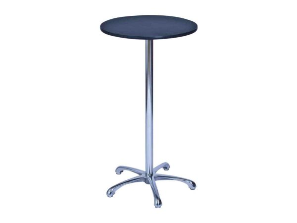 Ainsley Bar Table - Black (600mm dia) -0