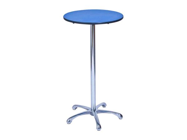 Ainsley Bar Table - Blue (600mm dia) -0