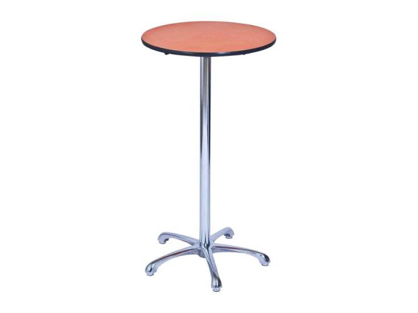 Ainsley Bar Table - Orange (600mm dia) -0