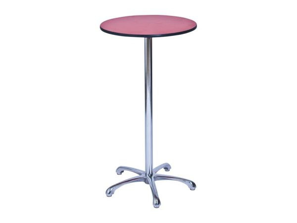 Ainsley Bar Table - Red (600mm dia) -0