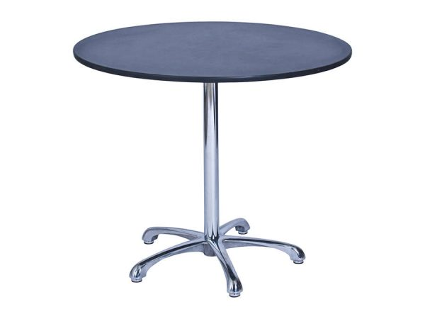 Ainsley Café Table Black (900mm dia) -0