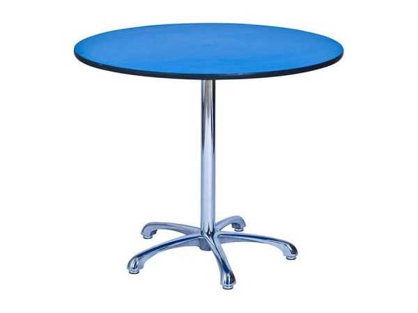 Ainsley Café Table Blue (900mm dia) -0