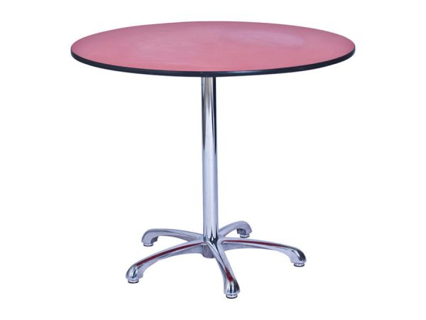 Ainsley Café Table Red (900mm dia) -0