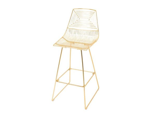 Illusion Bar Stool - Gold-0