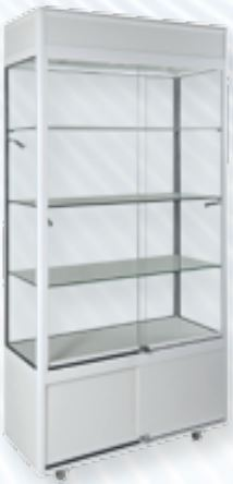 Large Window Display Cabinet with Downlights and Additional Spotlights-0