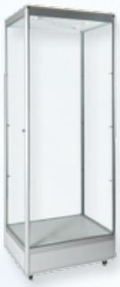 Mannequin Tower Display Case with Downlights-0