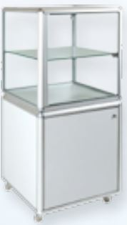 Pedestal Cube Display Cabinet-0
