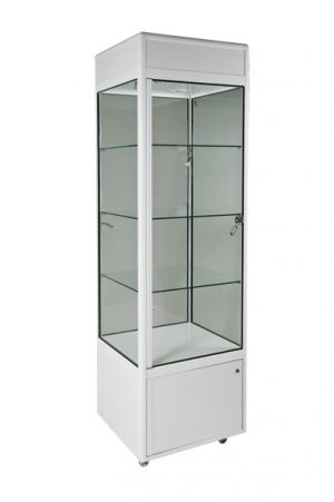 Tower Display Cabinet with Downlights & Additional Spotlights-0