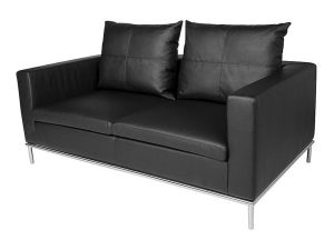 Cosa 2 Seater Lounge - Black-0