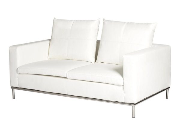 Cosa 2 Seater Lounge - White-0