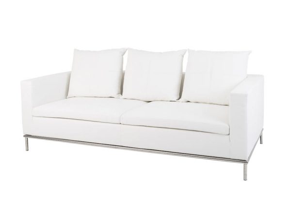 Cosa 3 Seater Lounge - White-0