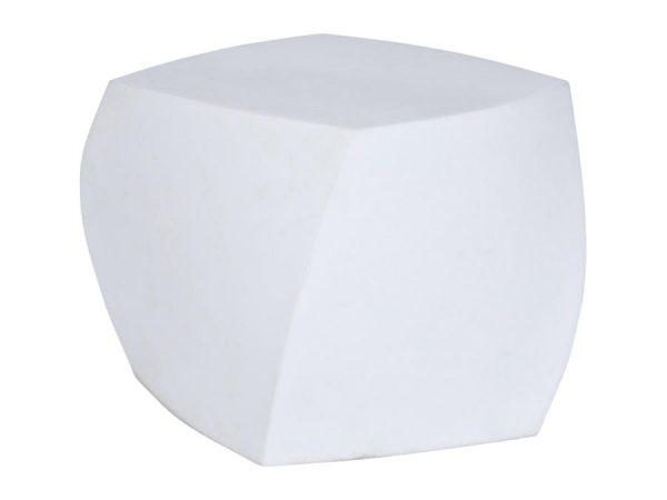 Gehry Twist Ottoman - White-0