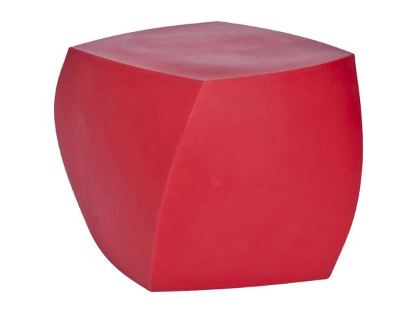 Gehry Twist Ottoman - Red-0