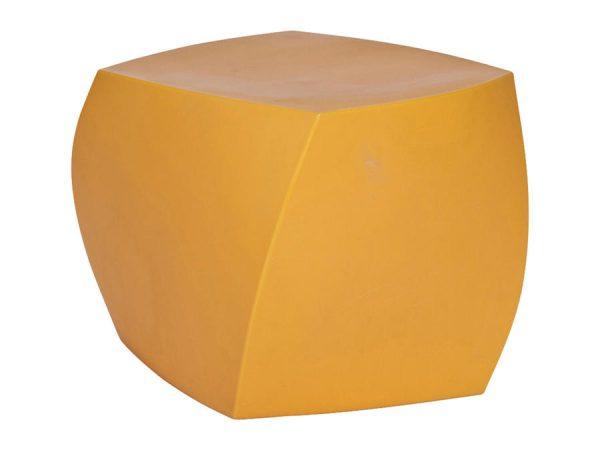 Gehry Twist Ottoman - Yellow-0