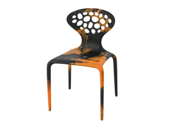 Supernatural Chair - Black/Orange-0
