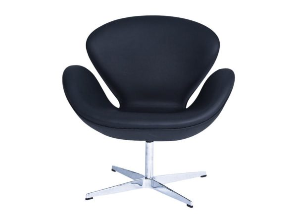 Swan Swivel Tub Chair - Black-0